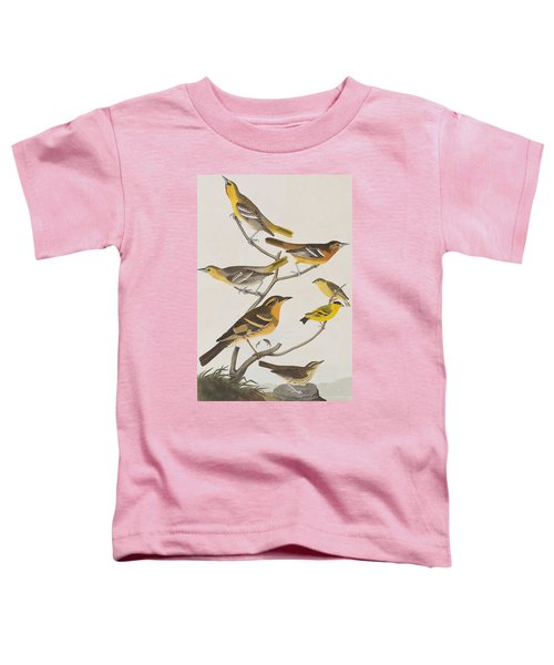 Orioles Thrushes And Goldfinches Toddler T-Shirt by John James Audubon