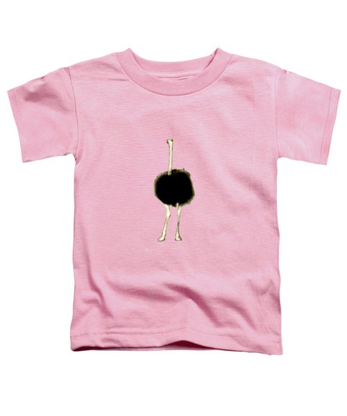 Ostrich Portrait Toddler T-Shirt by Methune Hively