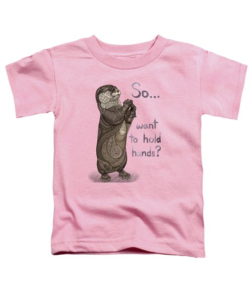 Otter Valentine Toddler T-Shirt by ZH Field