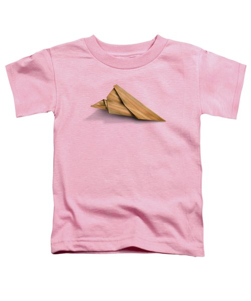 Paper Airplanes Of Wood 2 Toddler T-Shirt by Yo Pedro