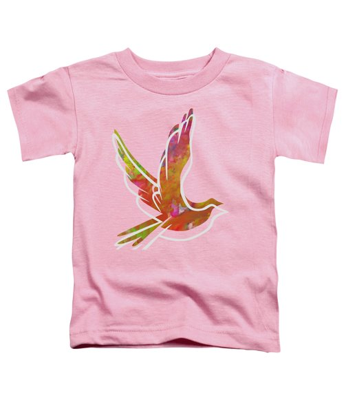 Part Of Peace Dove Toddler T-Shirt by Priscilla Wolfe
