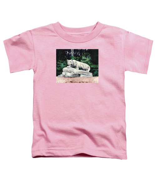 Penn State Nittany Lion Shrine University Happy Valley Joe Paterno Toddler T-Shirt by Laura Row