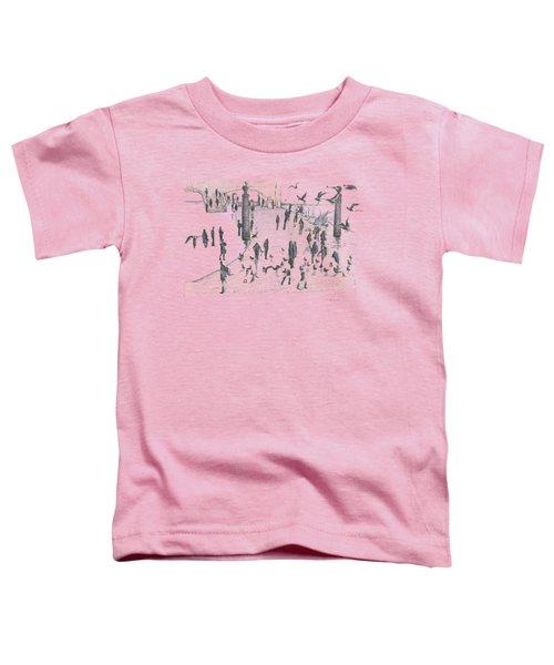 People And Birds, 19 December, 2015 Toddler T-Shirt by Tatiana Chernyavskaya