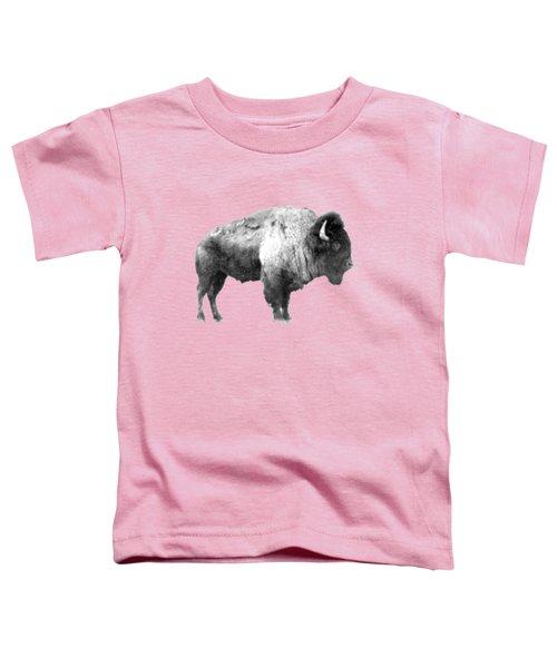 Plains Bison Toddler T-Shirt by Jim Sauchyn