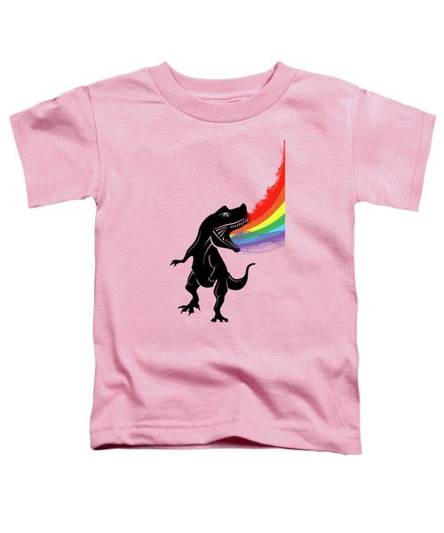 Rainbow Dinosaur Toddler T-Shirt by Mark Ashkenazi