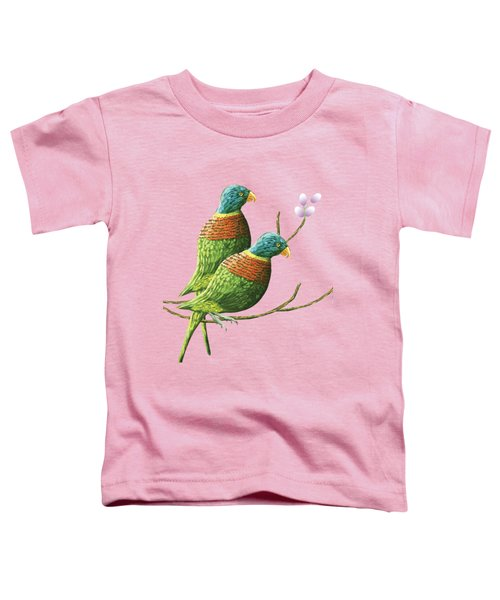 Rainbow Lorikeet Of Australia B Toddler T-Shirt by Thecla Correya