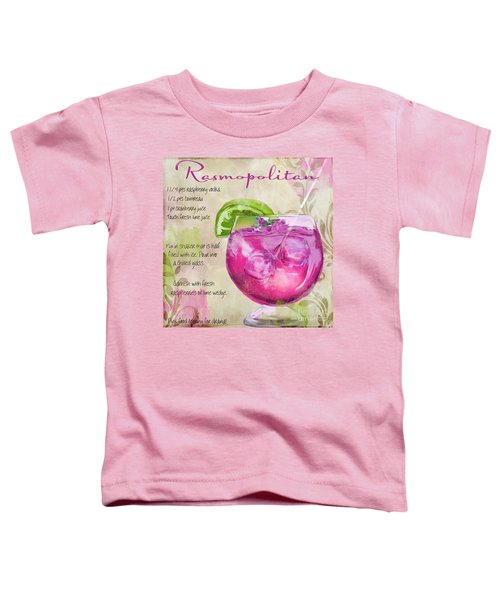 Rasmopolitan Mixed Cocktail Recipe Sign Toddler T-Shirt by Mindy Sommers