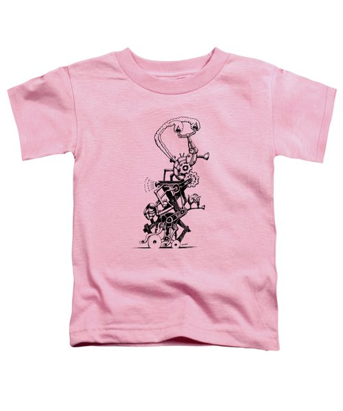 Rat Reverse-cycle Steam Engine Toddler T-Shirt by Kim Gauge