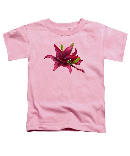 Red Lilies Toddler T-Shirt by Jane McIlroy