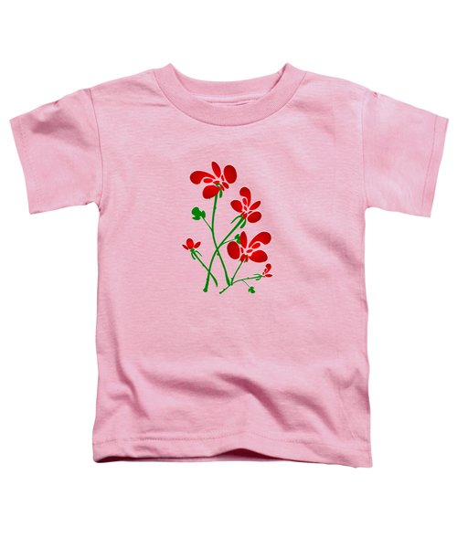 Rooster Flowers Toddler T-Shirt by Anastasiya Malakhova