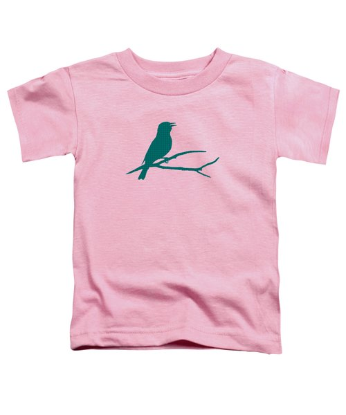 Rustic Green Bird Silhouette Toddler T-Shirt by Christina Rollo