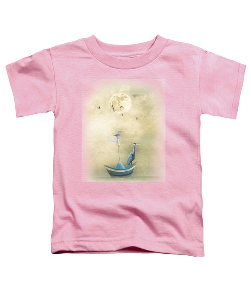 Sailing By The Moon Toddler T-Shirt by Chris Armytage