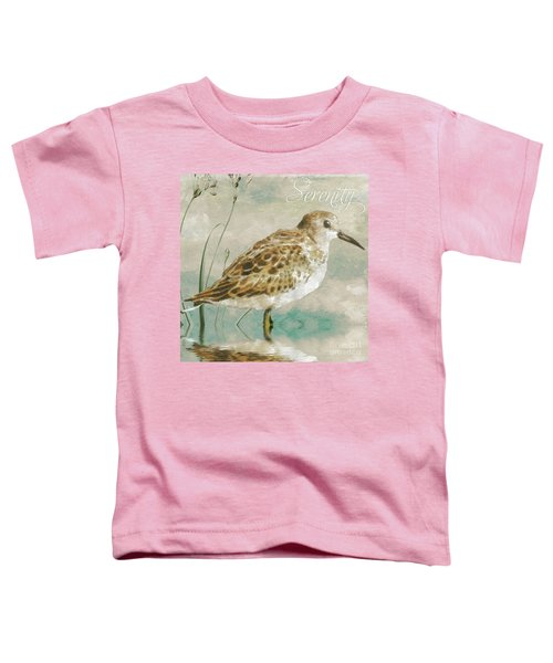 Sandpiper I Toddler T-Shirt by Mindy Sommers