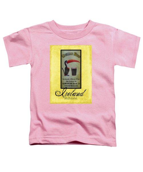 Seans Bar Guinness Pub Sign Athlone Ireland Toddler T-Shirt by Teresa Mucha