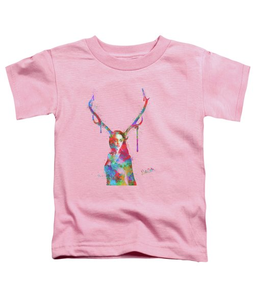 Song Of Elen Of The Ways Antlered Goddess Toddler T-Shirt by Nikki Marie Smith