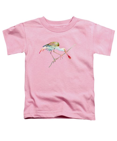 Spoonbill  Toddler T-Shirt by Amy Kirkpatrick