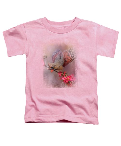Spring Cardinal 2 Toddler T-Shirt by Jai Johnson