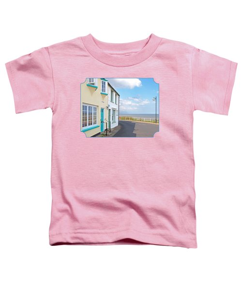 Sunny Outlook - Southwold Seafront Toddler T-Shirt by Gill Billington