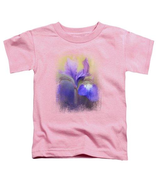 Tiny Iris Toddler T-Shirt by Jai Johnson