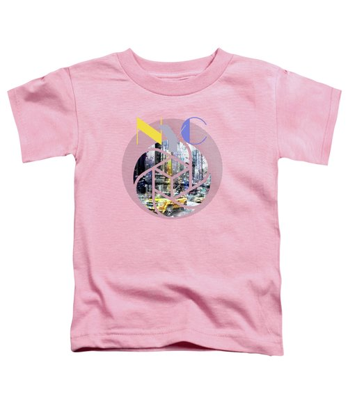 Trendy Design New York City Geometric Mix No 3 Toddler T-Shirt by Melanie Viola