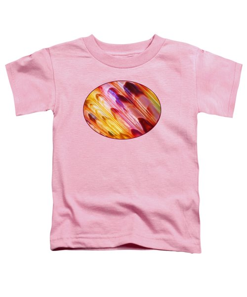 Triton Seashell Multicolor Abstract Toddler T-Shirt by Gill Billington