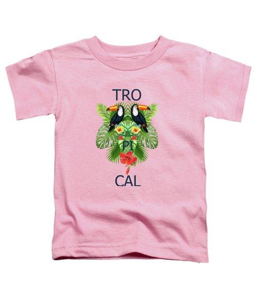 Tropical Summer  Toddler T-Shirt by Mark Ashkenazi