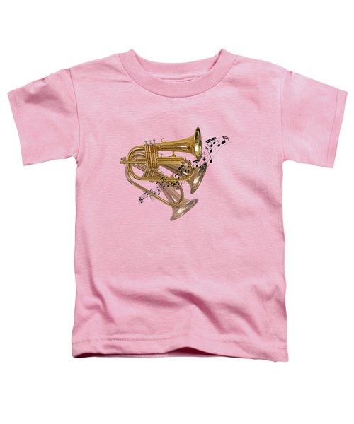 Trumpet Fanfare Toddler T-Shirt by Gill Billington