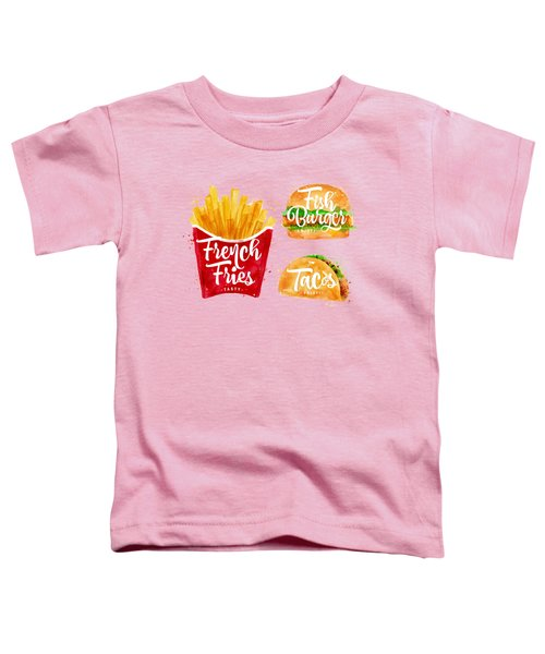 Vintage French Fries Toddler T-Shirt by Aloke Design
