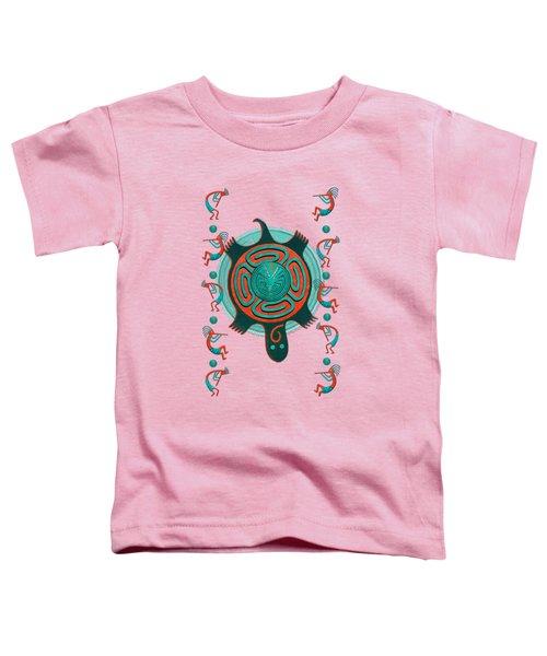 Visitors Anasazi 3d Folk Art Toddler T-Shirt by Sharon and Renee Lozen