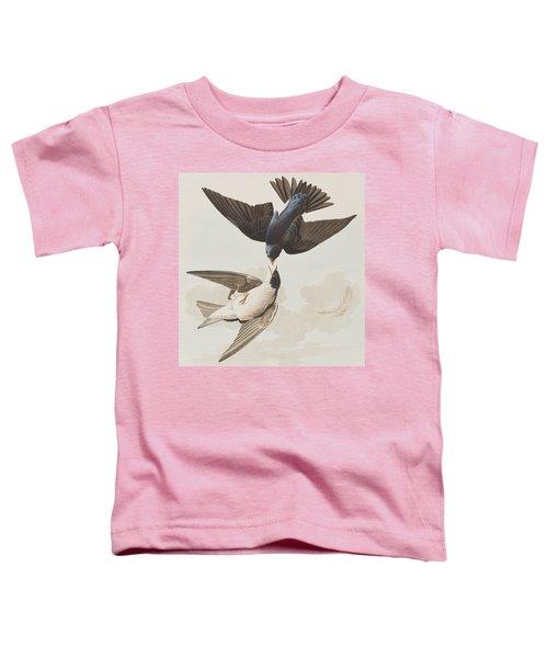 White-bellied Swallow Toddler T-Shirt by John James Audubon