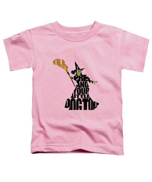 Wicked Witch Of The West Toddler T-Shirt by Ayse Deniz