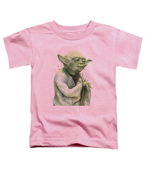 Yoda Portrait Toddler T-Shirt by Olga Shvartsur