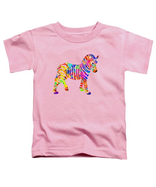 Zebra Toddler T-Shirt by Christina Rollo