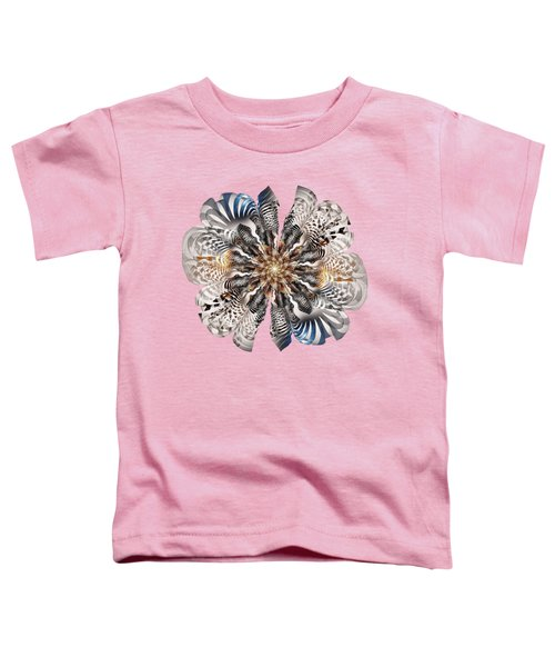 Zebra Flower Toddler T-Shirt by Anastasiya Malakhova