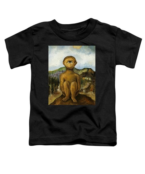 Cyclops Toddler T-Shirt by Leah Saulnier The Painting Maniac