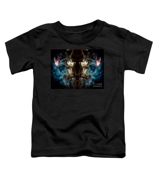 Minotaur Smoke Abstract Toddler T-Shirt by Edward Fielding