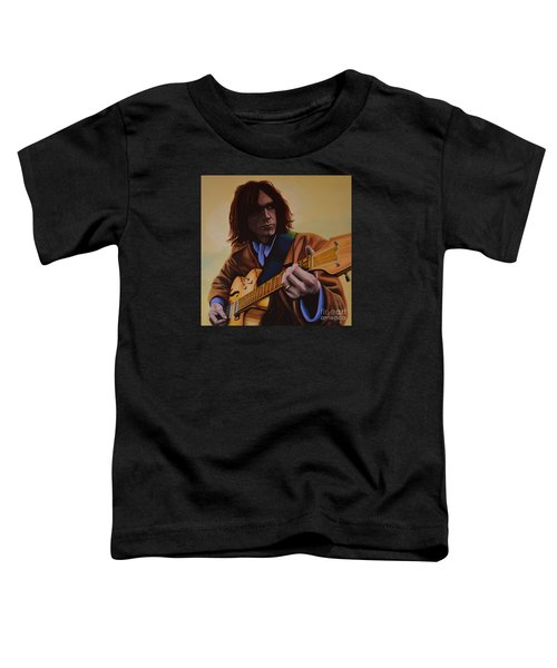 Neil Young Painting Toddler T-Shirt by Paul Meijering