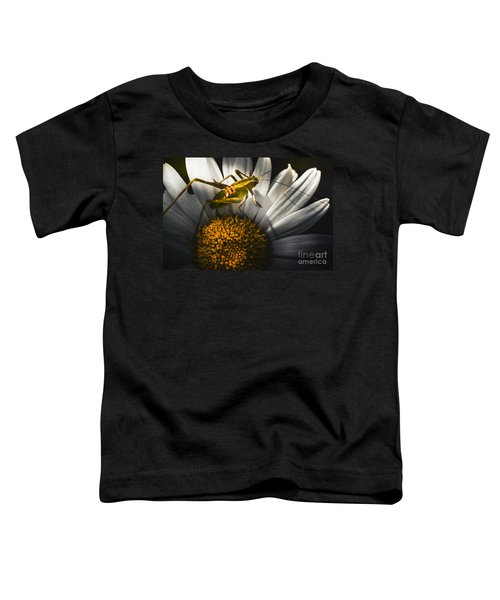 Australian Grasshopper On Flowers. Spring Concept Toddler T-Shirt by Jorgo Photography - Wall Art Gallery