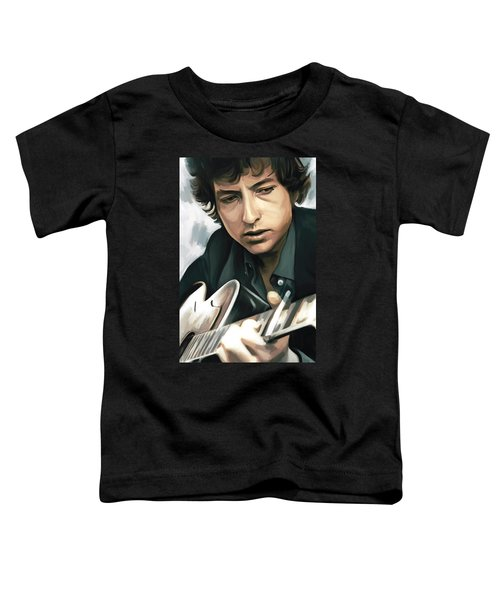 Bob Dylan Artwork Toddler T-Shirt by Sheraz A