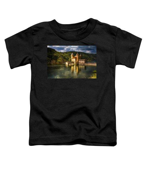 Chateau De La Roche Toddler T-Shirt by Debra and Dave Vanderlaan