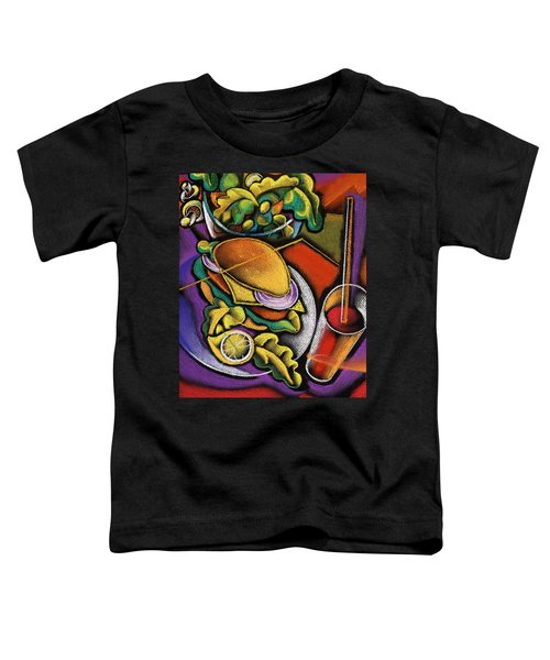 Dinner Toddler T-Shirt by Leon Zernitsky