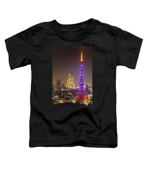 Tokyo Tower - Tokyo - Japan Toddler T-Shirt by Luciano Mortula