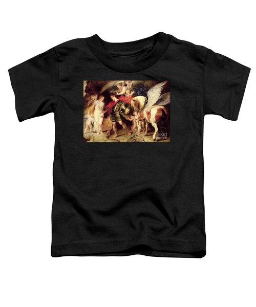 Perseus Liberating Andromeda Toddler T-Shirt by Peter Paul Rubens
