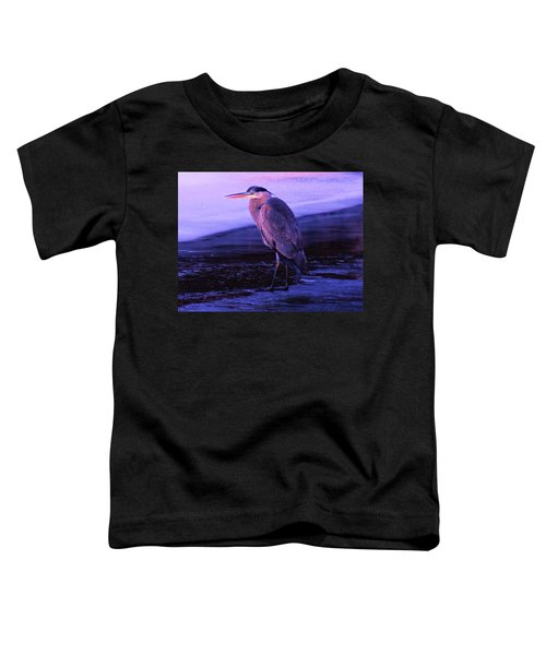 A Heron On The Moyie River Toddler T-Shirt by Jeff Swan