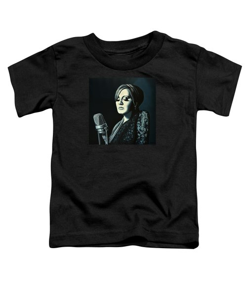 Adele Skyfall Painting Toddler T-Shirt by Paul Meijering