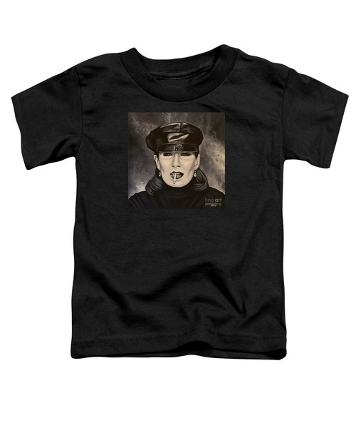 Anjelica Huston Toddler T-Shirt by Paul Meijering