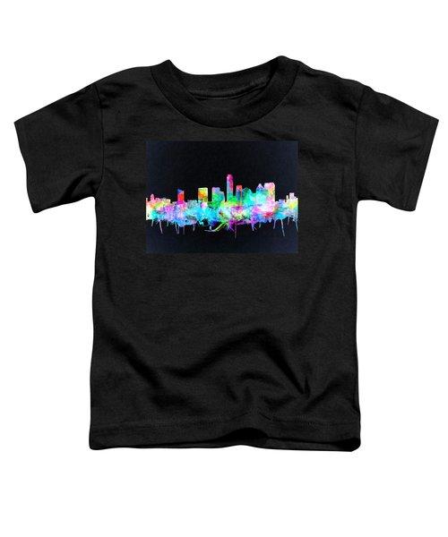 Austin Texas Skyline Watercolor 3 Toddler T-Shirt by Bekim Art