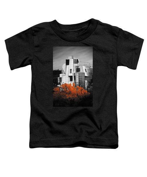 autumn at the Weisman Toddler T-Shirt by Matthew Blum