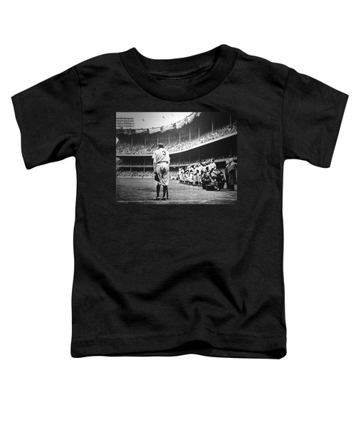 Babe Ruth Poster Toddler T-Shirt by Gianfranco Weiss