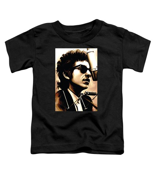 Bob Dylan Artwork 3 Toddler T-Shirt by Sheraz A
